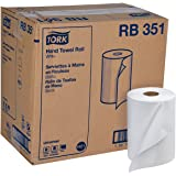 "Tork Universal RB351 Hardwound Paper Roll Towel, 1-Ply, 7.87"" Width x 350' Length, White (Case of 12 Rolls, 350 per Roll, 4,2"