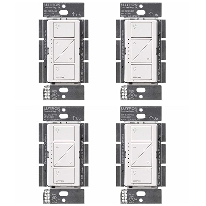 Lutron PD-6WCL-WH Caseta Wireless Smart Lighting Dimmer Switch, White (4 Pack) - - Amazon.com