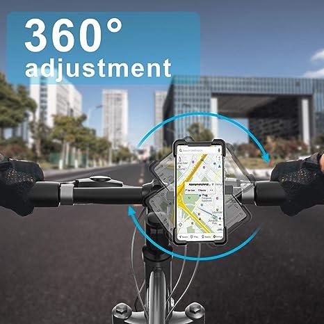 Niluoya Handyhalterung Fahrrad 360 Drehbar Universal Elektronik
