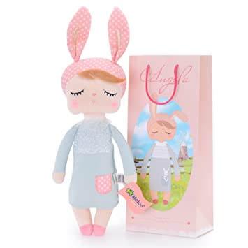 Amazon me too angela stuffed bunny baby plush rabbit doll me too angela stuffed bunny baby plush rabbit doll gifts for girls 12 inches gray dress negle Gallery