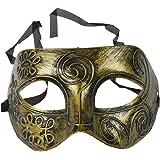 SODIAL(R)仮面舞踏ゴールデンの男性のマスカレードギリシャ、ローマスタイルのマスク