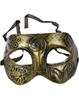 TOOGOO(R) Mens Adult Masquerade Greek Roman Facial Mask For Fancy Dress Masked Ball Golden