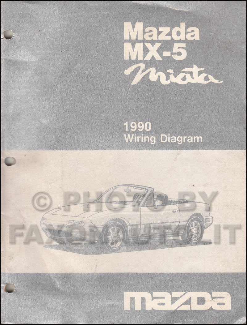 1990 Mazda Mx 5 Miata Wiring Diagram Manual Original Dodge Daytona Transmission Cars Books