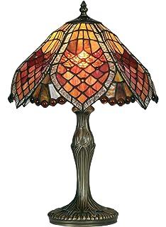 ed2d755ac15c Oaks Lighting Aztec Tiffany Table Lamp  Amazon.co.uk  Lighting