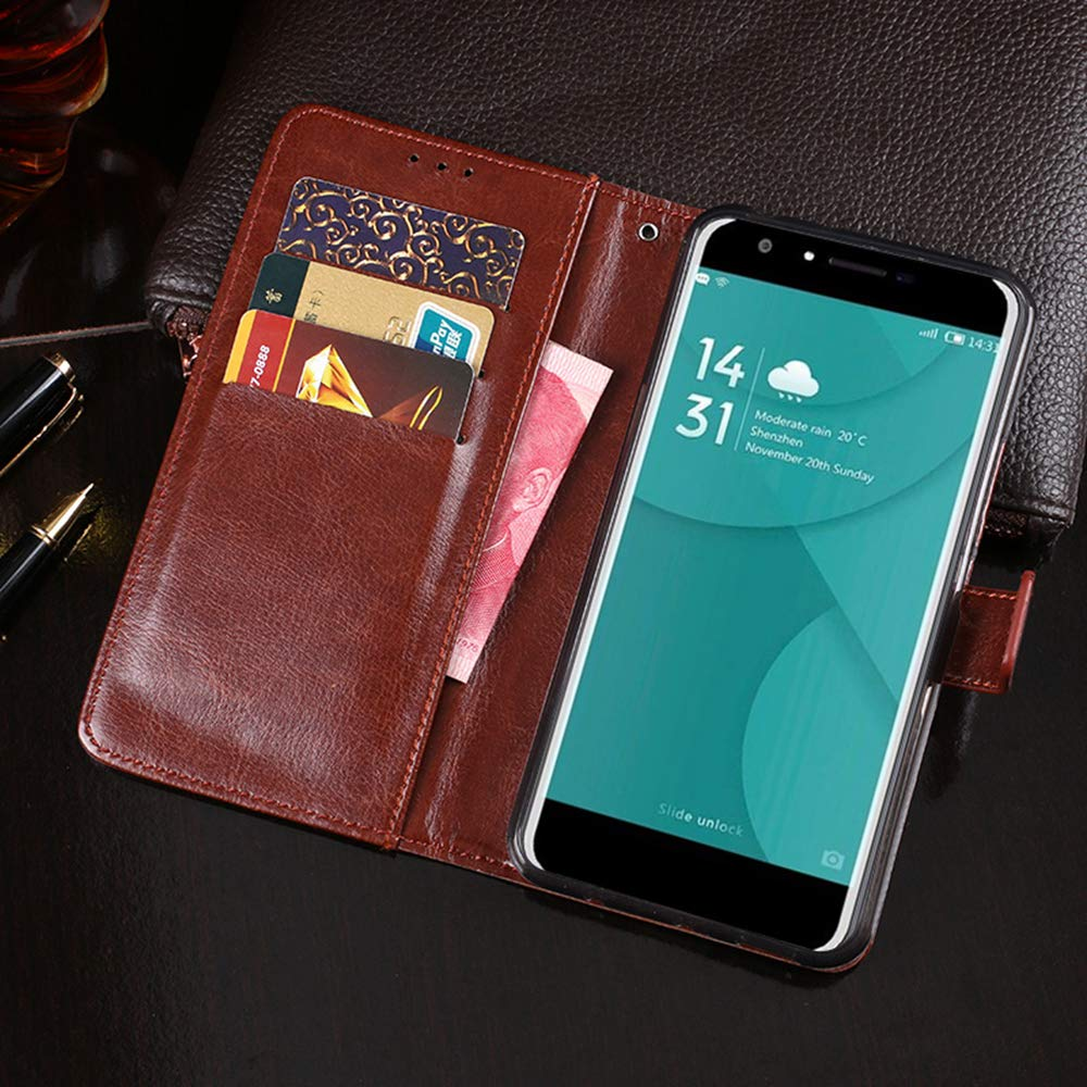 Amazon.com: Doogee Y6 Case, PU Leather Stand Wallet Flip ...