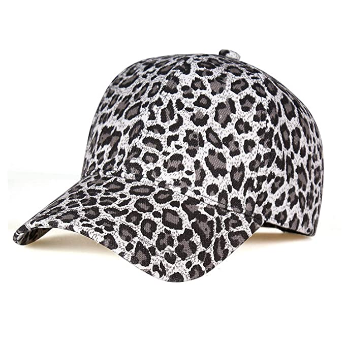 4399a913 Amazon.com: New Women's Baseball Hats Leopard Print Snapback Cap Females  Outside Visor Sun Cap Fashion: Clothing