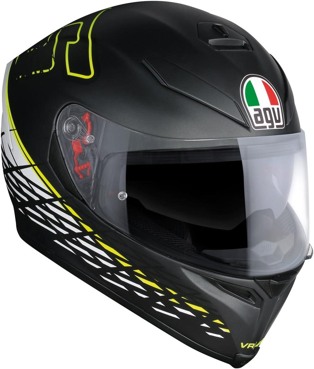 AGV Casco Moto Integrale K-5 S E2205 Top Plk Thorn 46 Nero Matt//Bianco//Giallo Taglia L