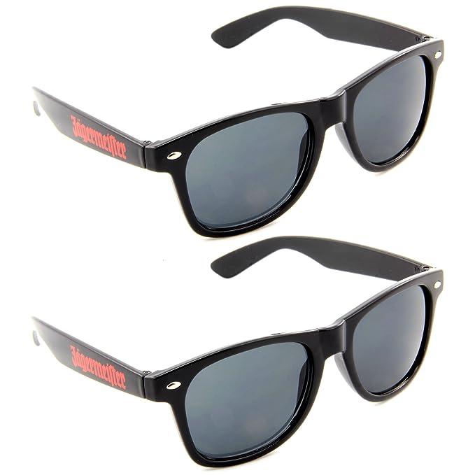 2 x Jägermeister Gafas de sol Wayfarer Style Hipster bajo (2 ...