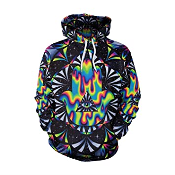 Ruanyi Hip-Hop Punk Color Pintura One Eye 3D Impreso Cartoon Sudaderas con Capucha Pullovers Coloridas Sudaderas para Unisex (Size : M): Amazon.es: Hogar