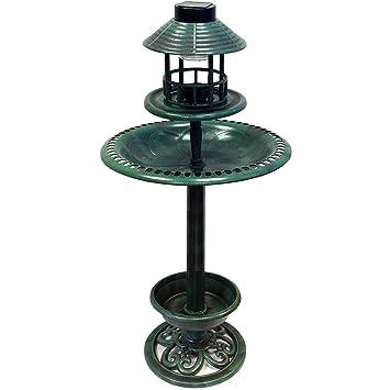 lampe solaire bassin oiseaux et mangeoire