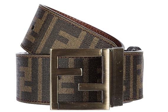 49c81243e0d5 Fendi ceinture homme en cuir raccourcie marron  Amazon.fr  Vêtements ...
