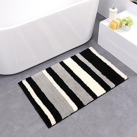 Amazoncom HEBE Bath Mats for Bathroom Nonslip Absorbent