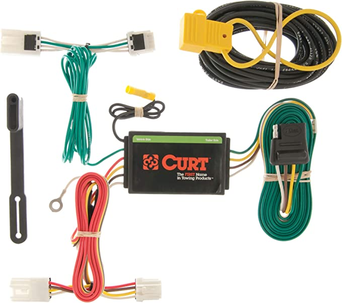 amazon.com: curt 56127 vehicle-side custom 4-pin trailer wiring harness,  select mitsubishi rvr, outlander sport, lancer: automotive  amazon.com