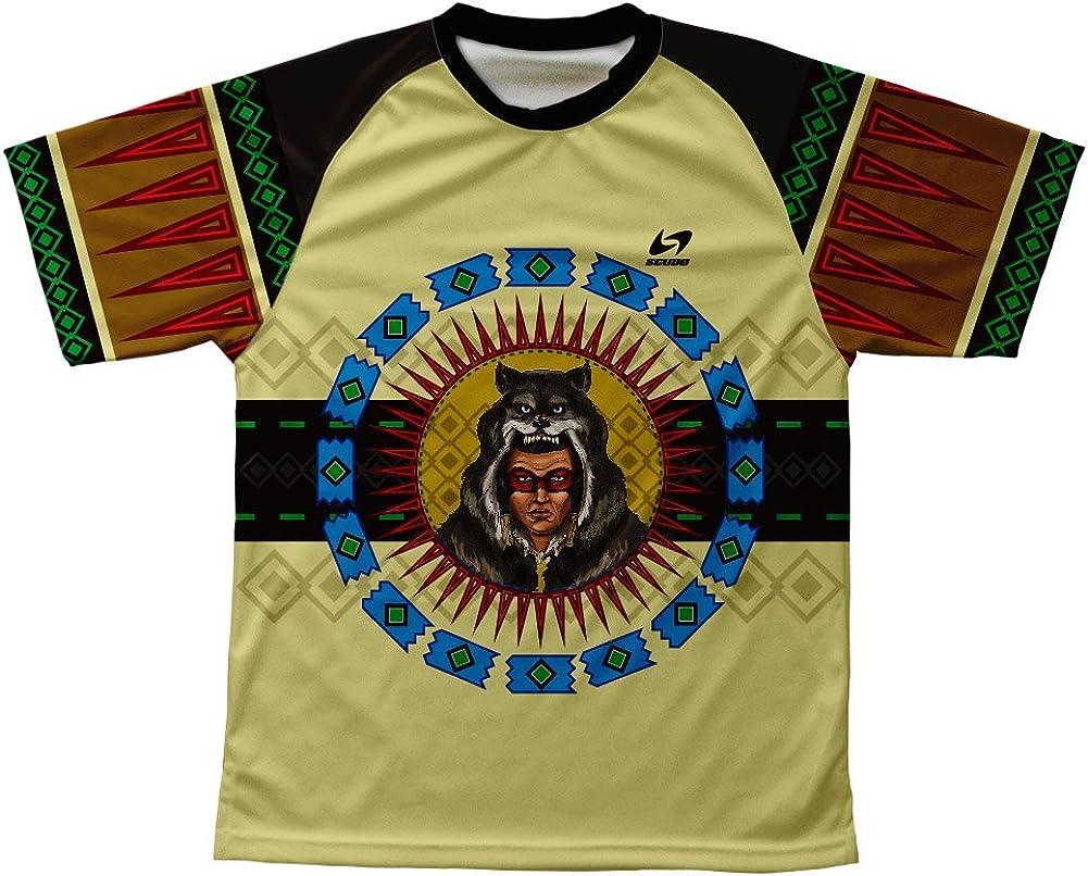 Wolf Headdress Technical T-Shirt for Men and Women