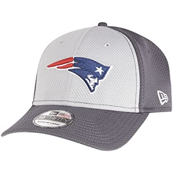 5f9267373785 New Era 39Thirty Cap - NFL New England Patriots graphite L X  Amazon ...