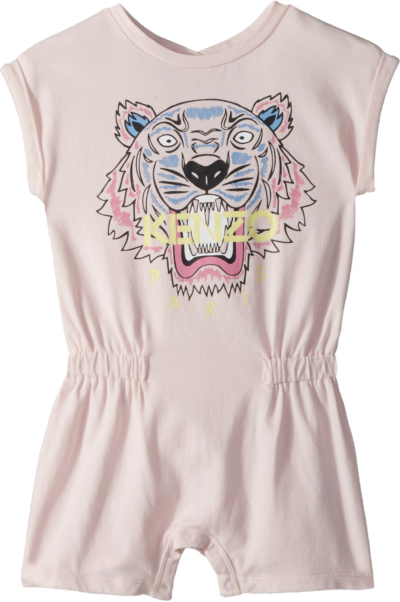 Kenzo Kids Baby Girl's Classic Tiger Romper (Toddler) Sweet Pink 3T