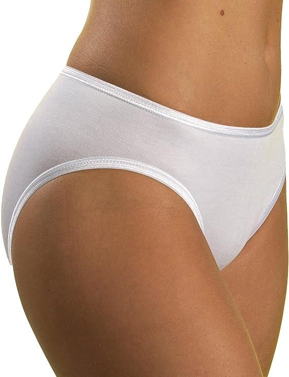 Taille /élastique 100/% Coton HERMKO 2850 Lot de 4 Slips gar/çons Couleur Unique