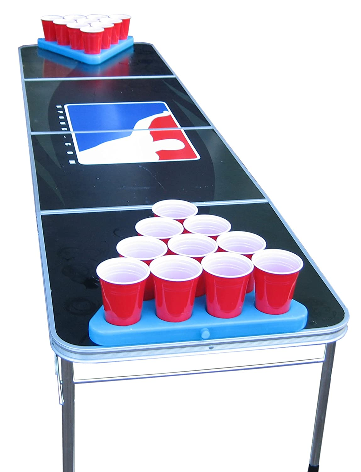 f7ff098f GoPong N-Ice Rack Freezable Beer Pong Rack Set, Includes 2-Racks, 3-Balls  and Rules: Amazon.co.uk: Sports & Outdoors