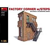 MiniArt 1:35 Scale Factory Corner w/Steps Plastic Model Kit