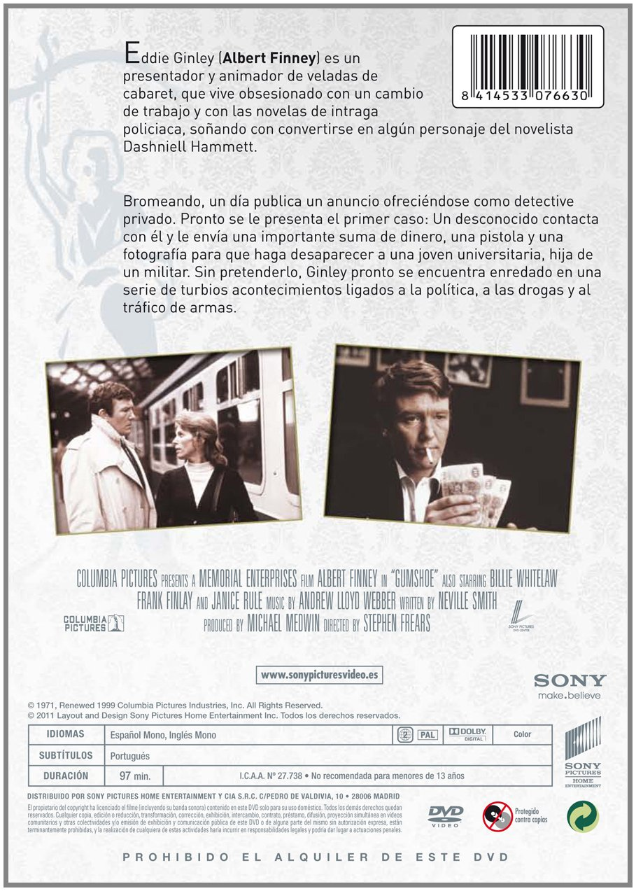 Amazon.com: Detective Sin Licencia (Import Movie) (European Format - Zone 2) (2011) Albert Finney; Billie Whitelaw; Fra: Movies & TV