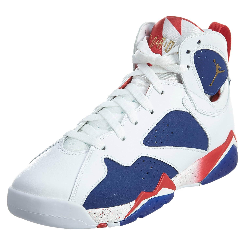quality design fa27c 148c0 Nike Boys Air Jordan 7 Retro BG Tinker Alternate Olympics White Mtlc Gld  Cn-Dp Ryl Leather White Metallic Gold Royal Blue Red 5 M US Big Kid   Amazon.in  ...