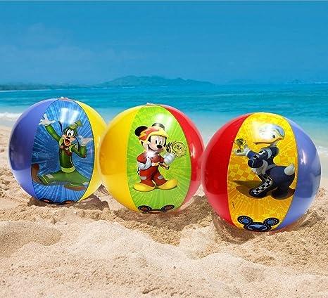 What Kids Want Pelota de Playa Inflable de Mickey Mouse y Amigos de Disney, 3 Unidades: Amazon.es: Deportes y aire libre