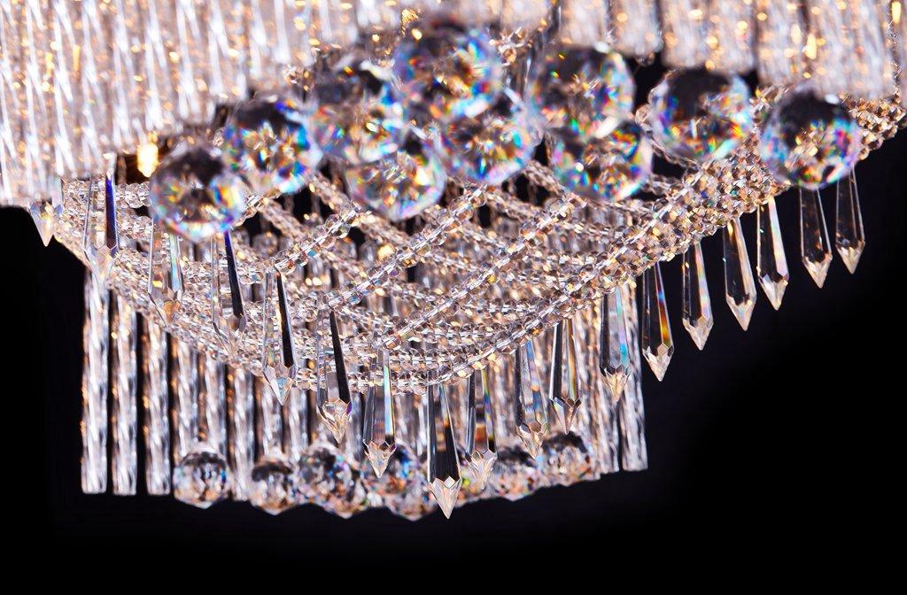 Vingo Led Kronleuchter Modern Deckenleuchte Kristall ~ Saint mossi modern k kristall regentropfen kronleuchter