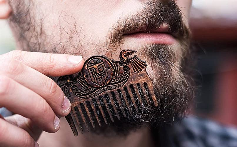 Viking Wooden Beard Comb Odin Pocket Comb FREE SHIPPING Celtic Nordic Gift for Him
