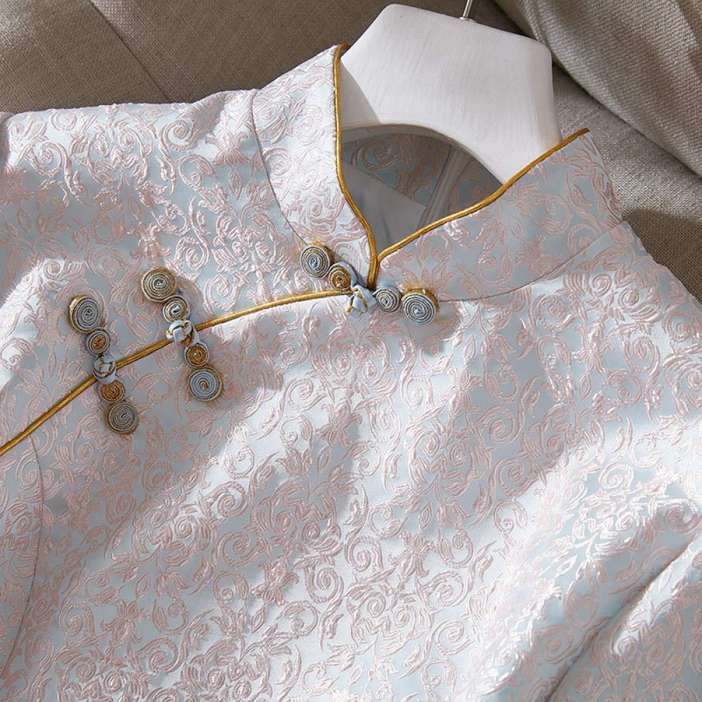 VIOY Otoño Jacquard Collar de Cheongsam Soporte Retro Cheongsam de Vestido de Regalo Novia,Cheongsam,S 400c57