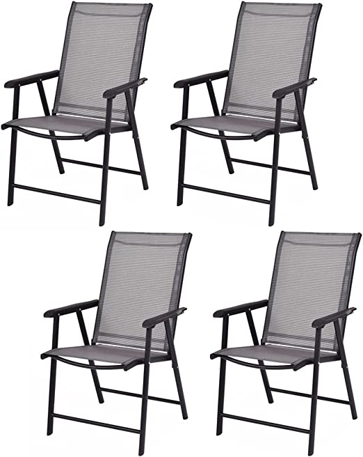 Amazon.com: Giantex 4-Pack Patio Folding Chairs Portable for