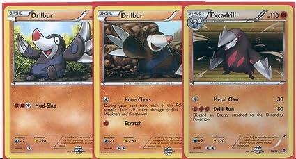 Amazon.com: Excadrill & DRILBUR – holo-foil tarjeta de ...