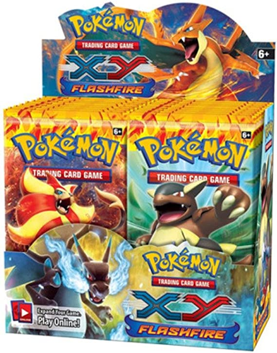 Nintendo Pokemon TCG Card Game XY2: FLASHFIRE Booster Box - 36 packs: Amazon.es: Juguetes y juegos