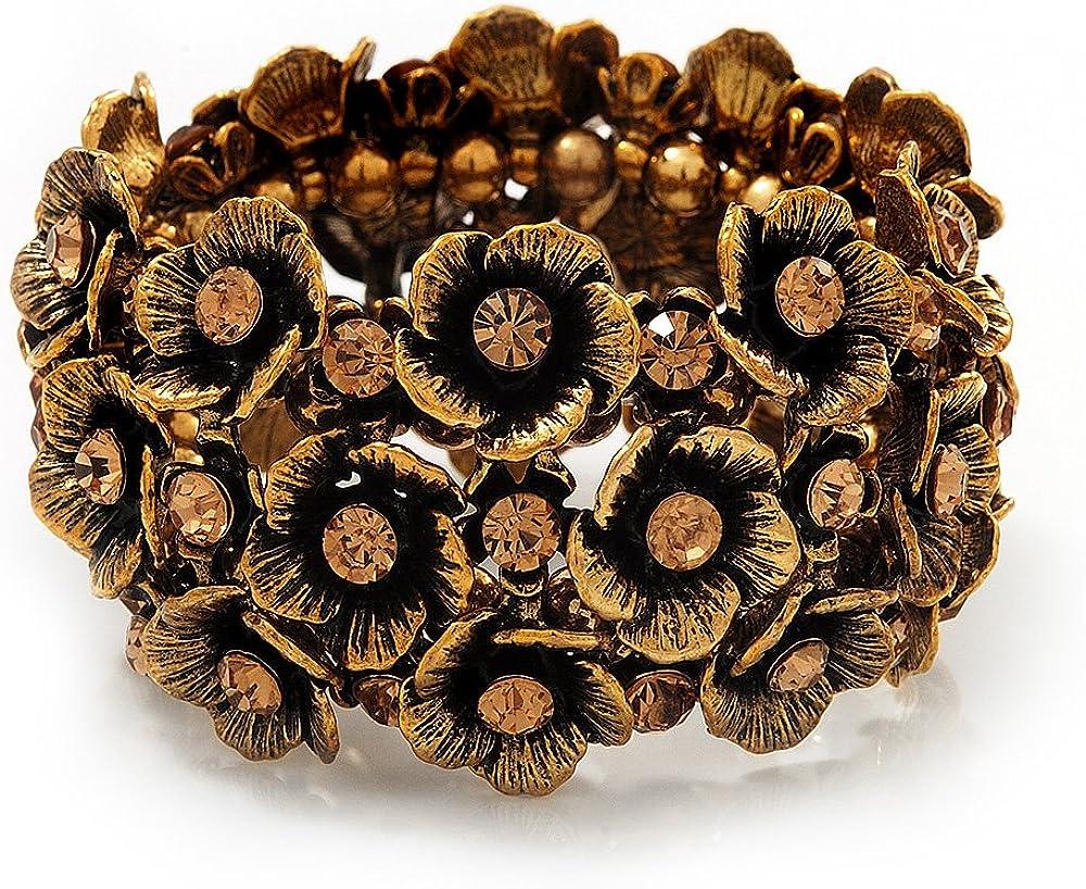 Ancho de la pulsera oro antiguo de Diamante Flex - hasta 19 cm, longitud de la