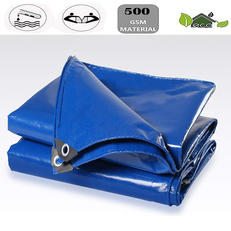 YLIAN ターポリン 防雨布ターポリン日焼け止めターポリン屋外サンシェード0.45mm厚、500g / M2屋外ガーデン家具キャンプガーデニング (Color : 青, Size : 32.8x49.2ft)