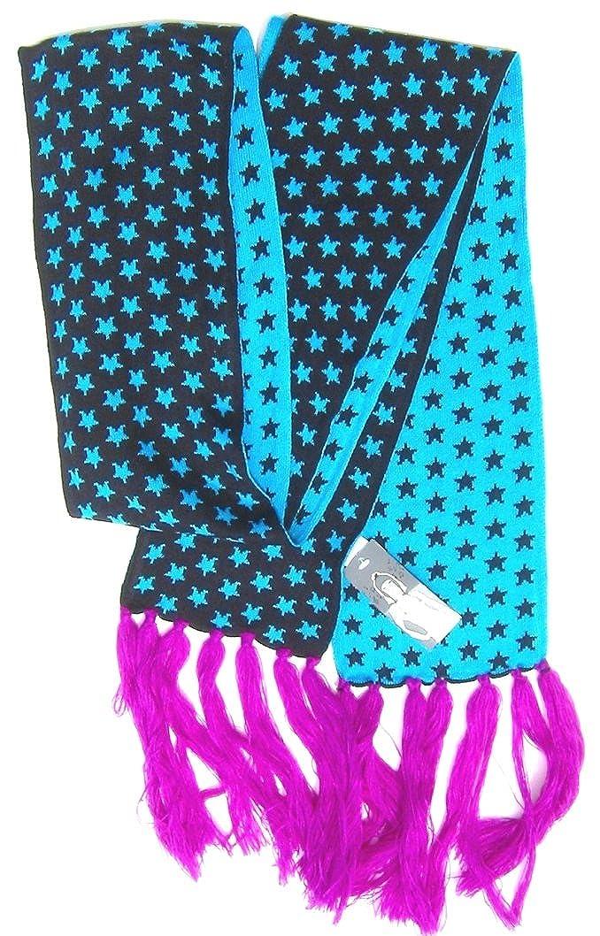 JCP Womens Mens Winter Fashion Scarf 100/% Acrylic 85 x 5.5 Purple Blue Black