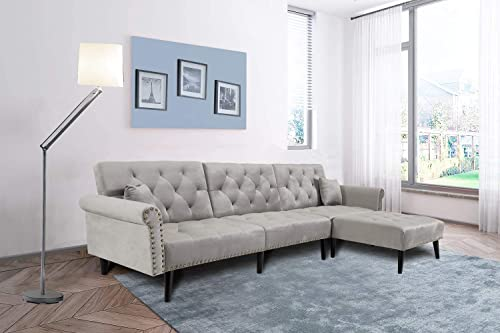 FCNEHLM L Shape Sectional Couch Reversible Chaise