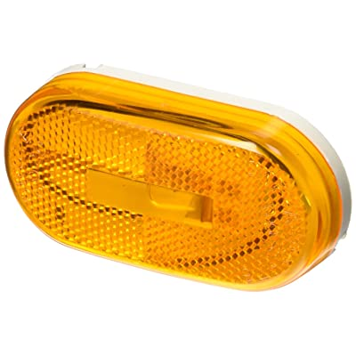Grote 46713 Yellow Single-Bulb Oval Clearance Marker Light (Built-in Reflector): Automotive