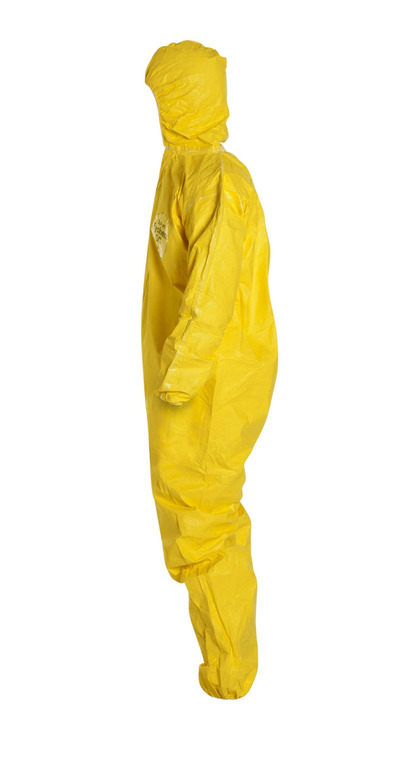 DuPont Tychem 2000 QC127S Disposable Chemical Resistant Coverall with Hood, Elastic Cuff and Serged Seams, Yellow, X-Large (Pack of 12) by DuPont (Image #5)