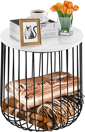 Reviewed: Round Side Table Modern Small Coffee Table Metal Wire End Table