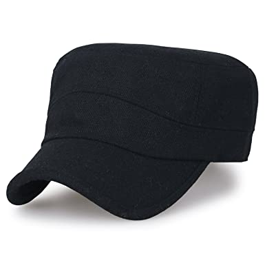 ililily Large Size Solid Color Military Army Hat Wool-Blend Vintage Cadet  Cap a83e3950d67