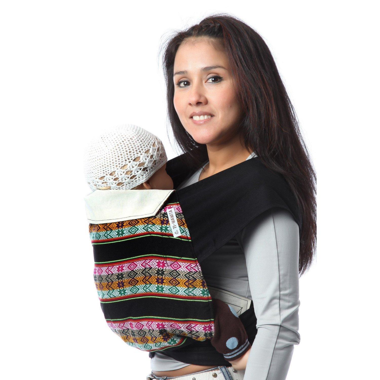 Ti-wawita - Porte bébé chinois - Mei Tai - Incayco noir lanières noires c8bfe8f993e
