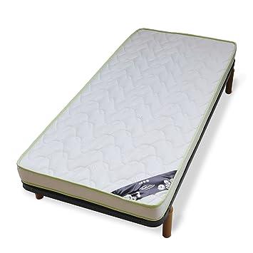 FEEL&AIR Conjunto somier colchón 90 cm, Espuma, Gris, ...
