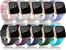 for Fitbit Versa Band, Vancle Classic Accessory Bands Replacement Wristband Straps for Fitbit Versa Smart Watch Small...