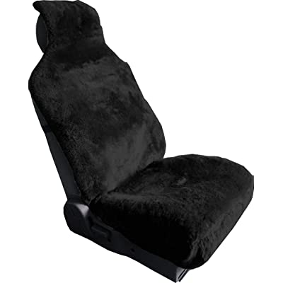 Aegis cover 701009BLACK Black Luxury Australian Sheepskin Wrapseat Cover Airbag Ready, 1 Pack: Automotive