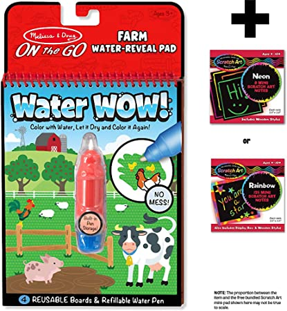 Melissa And Doug On The Go Water Wow Farm Reveal Pad NEW Craft Set