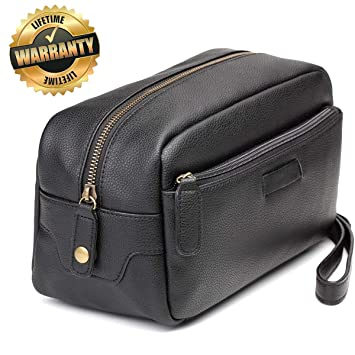 Amazon.com    1 Top Recommended Travel Toiletry Bag Leather Shaving Dopp  Kits Best for Men and Women   Beauty ee2fbd2cb36e9