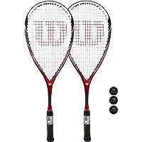 Wilson CS Muscle Squash Raqueta + Pelotas (Varias Opciones Disponibles) (Juego de 2 Raquetas)