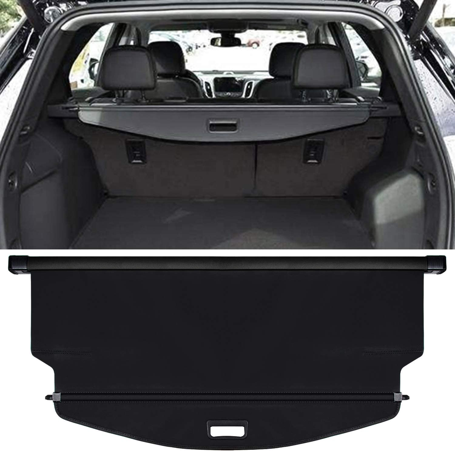 Cosilee Retractable Rear Trunk Parcel Shelf Security Shield Cargo Luggage Security Cover Shade Compatible for Chevrolet Equinox GMC Terrain 2010-2017