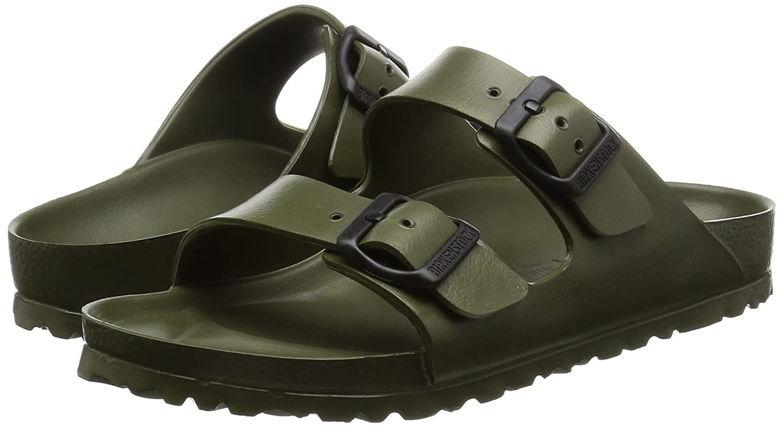 81d5fb446c177 Birkenstock Unisex Arizona EVA Dual Buckle Sandals, Khaki - 40 N EU