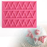 Surpromise Bunting Alphabet Letter Silicone Fondant Mould Sugar Paste Cake Cupcake Icing